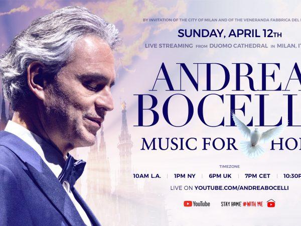 Andrea Bocelli naživo vystúpi z Milánskeho dómu!