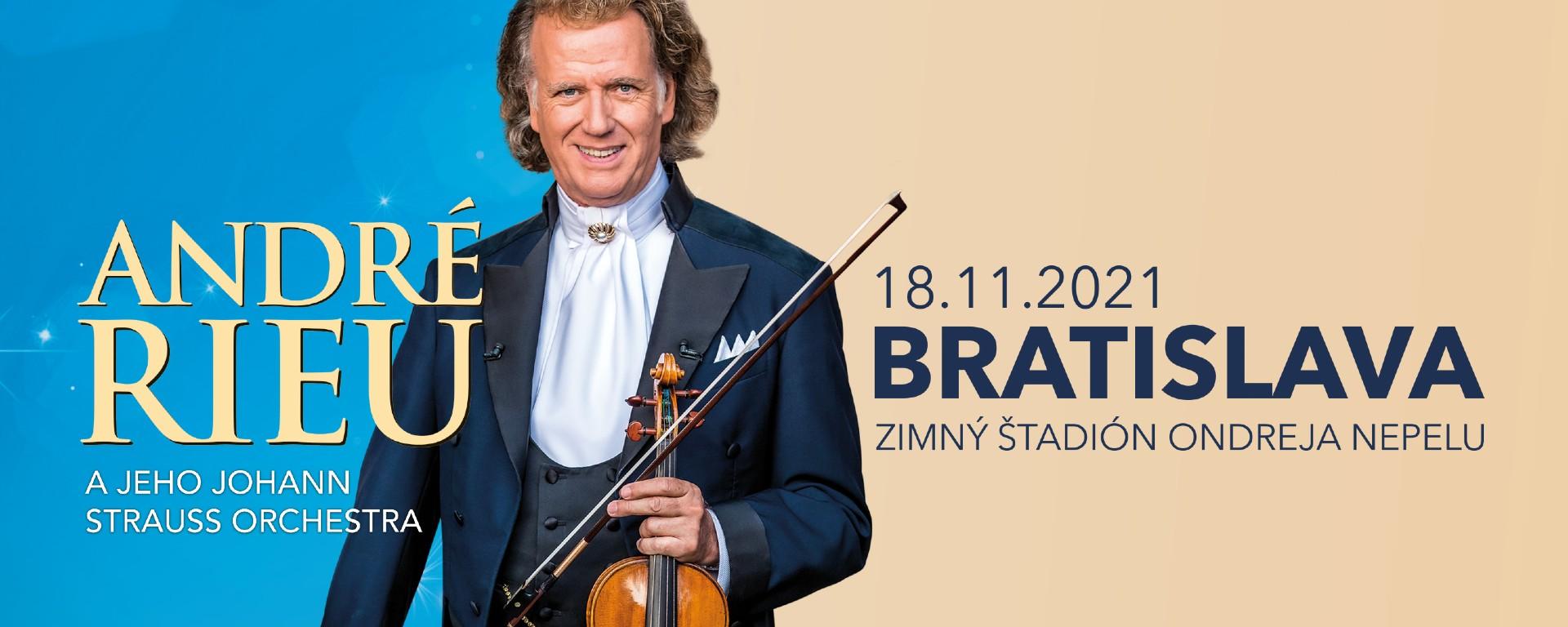 André Rieu sa 18. novembra 2021 predstaví v Bratislave.
